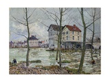 The Mills of Moret - Winter, 1890 Giclee Print by Alfred Sisley