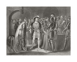 Lord Thomas Fitzgerald Renouncing His Allegiance to Henry Viii in 1534, from 'The History of… Giclee Print by Henry Warren