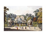 Ruin in the Garden of the Palace of Schoenbrunn, Vienna, 1790s Giclee Print by Laurenz Janscha