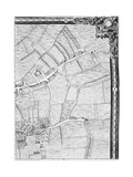A Map of Mile End and Stepney Green, London, 1746 Giclee Print by John Rocque