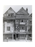 Houses on the South Side of a Street Called London Wall, Published 1812 Giclee Print by John Thomas Smith