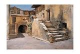 Italian Courtyard, 1886 Giclee Print by Frank Duveneck