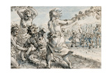 Maenads Beating Pentheus, Early 17th Century Giclee Print by Crispin I De Passe