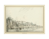 Benares on the River Ganges Giclee Print by Hubert Cornish