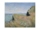 Edge of the Cliff, Pourville, 1882 Giclee Print by Claude Monet