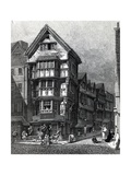 Houses Lately Standing on the West Corner of Chancery Lane, Fleet Street, Published in 1812 Giclee Print by John Thomas Smith