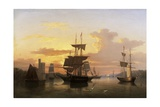 Evening on the River Lee, Below Blackrock Castle, Co. Cork Giclee Print by George Mounsey Wheatley Atkinson