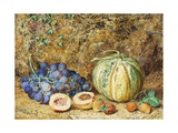 Grapes and Strawberries, 1877 Giclee Print by Thomas Collier