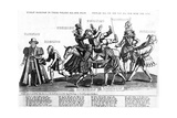 While Maskinge in their Folleis All Doe Passe, Though All Say Nay Yet All Doe Ride the Asse, 1607 Giclee Print by Renold Elstrack