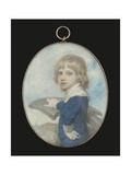 Portrait Miniature of a Young Boy Leaning on an Anchor, a Ship in the Distance, 1789 Giclee Print by Richard Cosway