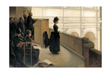 The Rehearsal in the Choir Loft Giclee Print by Henri Lerolle