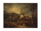 Landscape with Masons at Work Giclee Print by Thomas Barker