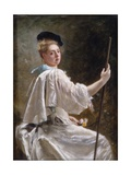 Lady with a Staff, C.1895 Giclee Print by Gustave Jacquet
