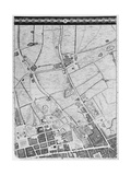 A Map of the West End and Soho, London, 1746 Giclee Print by John Rocque