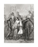 Richard, Earl of Pembroke, Taking Leave of His Brother before Leaving for Ireland in 1169, from… Giclee Print by Henry Warren