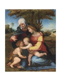 The Madonna and Child in a Landscape with Saint Elizabeth and the Infant Saint John the Baptist,… Giclée-tryk af Fra Bartolommeo