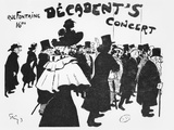 Poster Advertising a Concert at the Cafe Des Decadents, 16Bis Rue Fontaine, Paris, C.1900 Photographic Print by Jules-Alexandre Grün