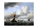 A Brisk Breeze, C.1665 Giclee Print by Willem Van De Velde The Younger