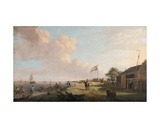 View of Tilbury Fort with Fishermen Hauling Nets, 1770 Giclee Print by Dominic Serres
