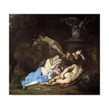 Nymphs by a Fountain, C.1654 Giclee Print by Sir Peter Lely