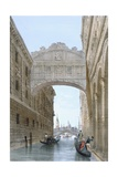 Gondolas Passing under the Bridge of Sighs, from 'Vedute Dei Principali Monumenti Di Venezia',… Giclee Print by Giovanni Battista Cecchini