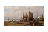 Brighton Beach with Fishing Boats, 1877 Giclee Print by Isaac Walter Jenner