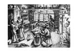Goldsmith's Workshop, 1576 Giclee Print by Etienne Delaune