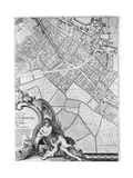A Map of Camberwell, London, 1746 Giclee Print by John Rocque