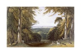 Glen in Windsor Park Near Bishops Gate, from 'Views of Windsor, Eton and Virginia Water', C.1827-30 Giclee Print by William Daniell