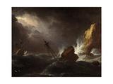 Seascape in Stormy Weather, C.1700 Giclee Print by Adriaen van Diest