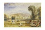 Richmond Hill and Bridge, Surrey, C.1831 Giclee Print by J. M. W. Turner