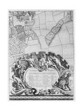 Inscription from Rocque's Map of London, Listing the City's Aldermen and their Areas, 1746 Giclee Print by John Rocque