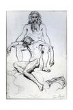 God the Father and God the Son Giclee Print by Henri Lehmann