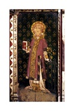 St Lawrence, Detail of the Rood Screen, St Helen's Church, Ranworth, Norfolk, Uk Giclée-Druck