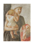 Detail of the Woman and Child, from St. Peter and St. Paul Distributing Alms, C.1427 (Detail) Giclee Print by Tommaso Masaccio