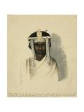 Shoan Warrior Wearing Ornamental Ahodama Headdress, 1842 Giclee Print by Rupert Kirk
