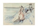 Ladies by the Sea, Late 19th or Early 20th Century Giclee Print by Charles Edward Conder