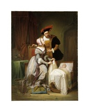 Emperor Charles and His Mistress Johanna Van Der Gheynst at the Cradle of their Daughter… Giclee Print by Theodore Joseph Canneel