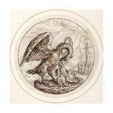 A Pelican in Her Piety, Early 17th Century Giclee Print by Crispin I De Passe