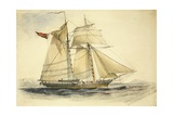 The Tom Tough Attached to the North Australia Expedition, 1856 Giclee Print by Thomas Baines