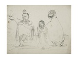 Group of Seated Fingos in Eastern Cape Province, 1851 Giclee Print by Thomas Baines