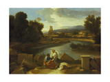 Landscape with St. Matthew, 1640 Giclee Print by Nicolas Poussin
