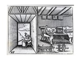 Bookbinding, Illustration from the 'Orbis Sensualium Pictus' by John Amos Comenius, English… Giclee Print by German School