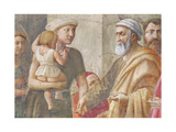 Detail of St Peter and the Woman and Child, from St. Peter and St. Paul Distributing Alms, C.1426… Giclee Print by Tommaso Masaccio