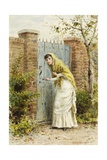 Girl at a Gate Giclee Print by George Goodwin Kilburne