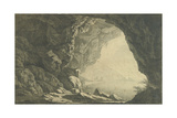 A Grotto in the Gulf of Salerno, Morning, C.1800 Giclee Print by Joseph Wright of Derby