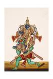 Ganesha Defeating an Evil Demon, from Thanjavur, India Giclee Print