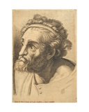 Head of a Bearded Man, from 42 Studies of Heads after Raphael Giclee Print by Paolo Fidanza