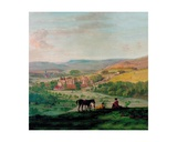 An 18th Century View of Haddon Hall with the Village of Bakewell in the Background Giclee Print by John Raphael Smith