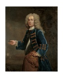 Portrait of Henry Boyle, Captain of Horses, in a Landscape, with a Battle Beyond, 1730 Giclee Print by Anthony Lee